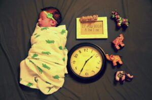 Dressing baby under swaddle