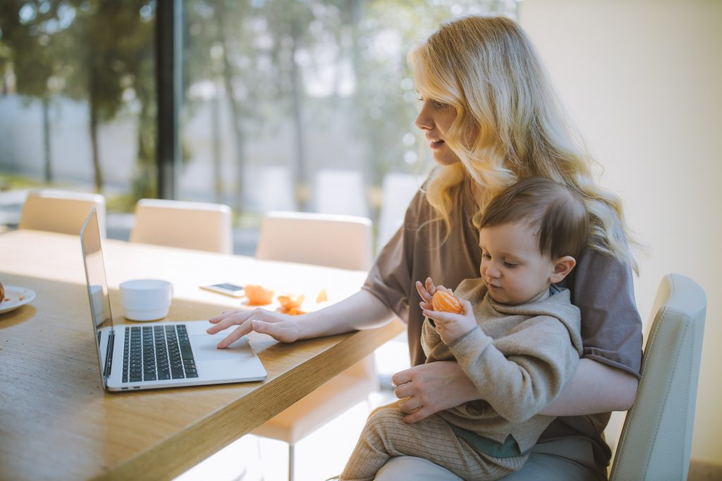 Working Mom with laptop